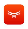 drone video camera icon digital red vector image vector image