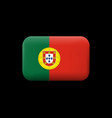 flag of portugal matted icon and button vector image