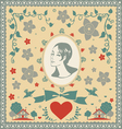 for someone very special postcard vector image