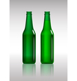 Full and empty green beer bottles vector image vector image