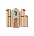 ganchvor monastery icon cartoon style vector image