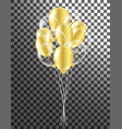 gold transparent balloon on background balloons vector image vector image
