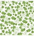 green leaves hand drawn seamless pattern vector image vector image
