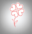 heart flower retro symbol design vector image