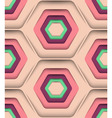 Honeycomb Spring Colors Seamless Pattern vector image