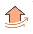 increase concept design real estate icon vector image