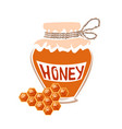 jar of honey vector image vector image