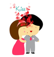Kissing you sweet love vector image