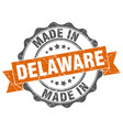 made in delaware round seal vector image vector image