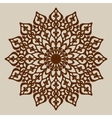 Mandala template for cutting decorative rosette vector image vector image
