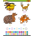 mathematical task for preschoolers vector image vector image