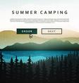 nature and landscape summer landscape nature vector image vector image