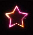 neon sign stars background bright design vector image