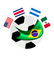 North America Qualification in A Brazil 2014 vector image vector image