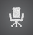 Office chair sketch logo doodle icon vector image vector image