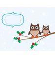 owl card vector image vector image