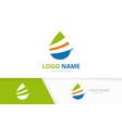 premium waterdrop logo combination unique fresh vector image vector image