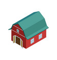 rural farm barn isometric 3d element vector image vector image
