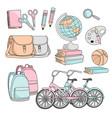 School supplies clipart color