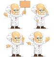 Scientist or Professor Customizable Mascot 8 vector image vector image