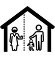 self isolated family member icon vector image