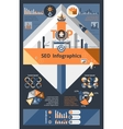 Seo Infographics Set vector image vector image