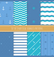 set of 8 nautical seamless patterns vector image vector image