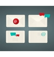 Set of paper Email envelopes vector image vector image
