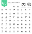 Set of SEO and Development icons solid style vector image