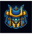 shogun robot head mascot logo vector image vector image