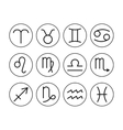 Signs of zodiac flat icons for horoscope and vector image vector image