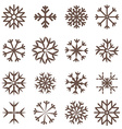 Snowflakes Set Flat Design vector image