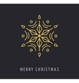 Snowlakes geometric Christmas background vector image vector image