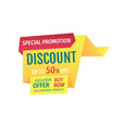 special promotion discount vector image vector image