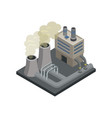 steel plant isometric 3d element vector image