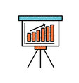 strategy presentation with statistics bar and vector image vector image