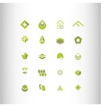 symbol elements set for web design vector image vector image