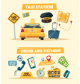 Taxi service Cartoon vector image