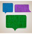 textured talking bubbles vector image vector image