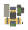 the paper model of a house vector image vector image