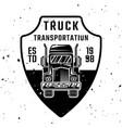 truck monochrome emblem badge label or vector image vector image