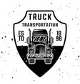 truck monochrome emblem badge label vector image
