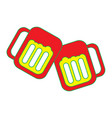 two glass beer drink beverage liquor alcohol vector image vector image