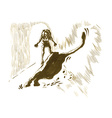 underground comix Woman with Leopard vector image vector image