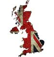 United Kingdom map grunge mosaic vector image