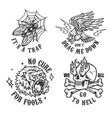 vintage monochrome tattoos vector image vector image