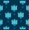 vivid blue color abstract tulip flower motif vector image