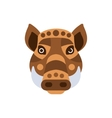Wart Hog African Animals Stylized Geometric Head vector image vector image