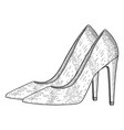 women shoes high heels hand drawn sketch vector image vector image