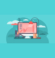 work from home abstract flat vector image